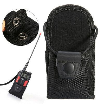 Nylon Waist Chest Pouch Hang Holster Holder Bag For Two Way Radios Walkie Talkie