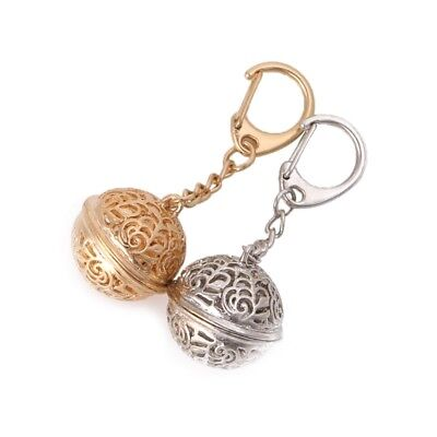 Lovely Hollow Out Ball Bells Key Chains Crystal Fashion Women Handbag Pendant