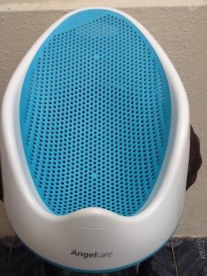 Angelcare Blue Soft Touch Baby Bath Seat Support for Newborn Infant Water Drain