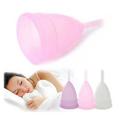 1PC S/L Female Reusable Silicone Menstrual Cup Period Soft Medical Diva Cup AU