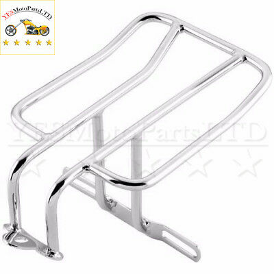 Chrome Steel Rear Luggage Rack For Harley Roadster Nightster 883 Iron SuperLow