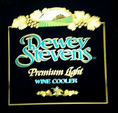 Plastic neon style sign cover only, Dewey Stevens Premium Light Wine Coolers