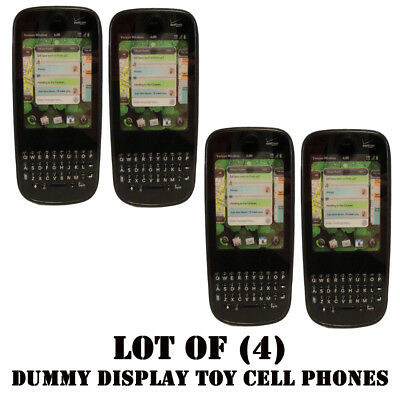 Lot of (4) Verizon Palm Pixi Plus Mock Dummy Display Toy Cell Phone for Display