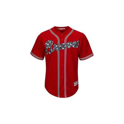 Majestic Athletic MLB Atlanta Braves Cool Base Alternate Red Jersey