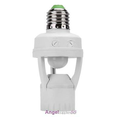 E27 Light Bulb Socket Adapter Screw Infrared PIR Motion Sensor Switch Base