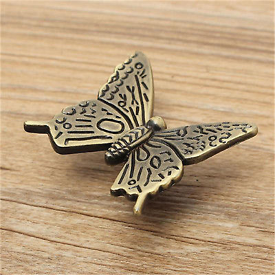 Vintage Butterfly Cabinet Handles Kitchen Furniture Chest Drawer Pull Knobs C