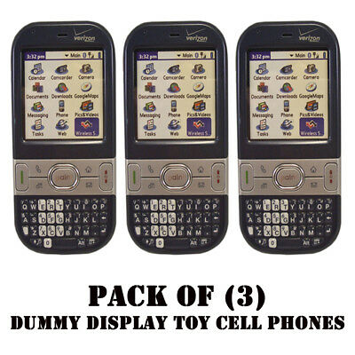 Pack of (3) Verizon Palm Centro 690 Mock Dummy Display / For Kids Toy Cell Phone