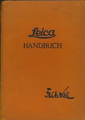 Book:  Leica Handbuch by Fritz Vith, 1940, 316 Pages, In German, Ilustrated