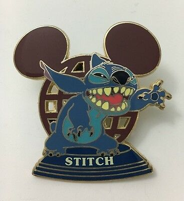 Walt Disney World Stitch Mickey Ear Globe Pin Le3500