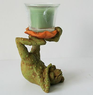 Yoga Frog Votive Candle Holder Votive candle included NEW IN BOX