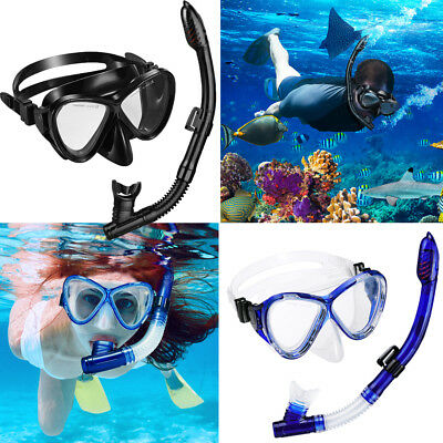 Adults Divers Unisex DIVING MASK AND SNORKEL SET Combo Scuba dive snorkelling