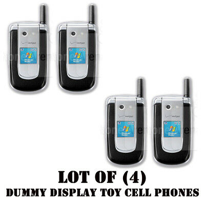 Lot of (4) New Verizon windows mobile PN820 Mock Dummy Display Toy Cell Phones