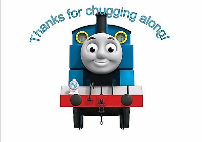Set Of 12 Personalised Thomas Thanks For Chugging Along Cake Bags