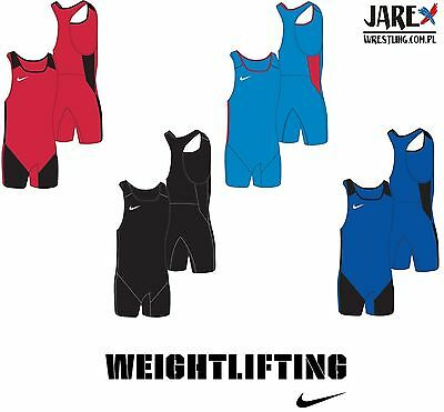 NIKE Men's Adult Weightlifting Powerlifting Singlet Suit Gewichtheben Trikot XL