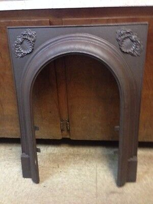 Antique Cast Iron Fireplace Surround Arched With Shell Motif Smaller Version