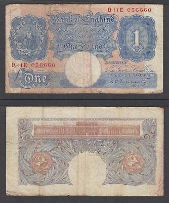 Great Britain 1 Pound 1940 (F) Condition Banknote P-367