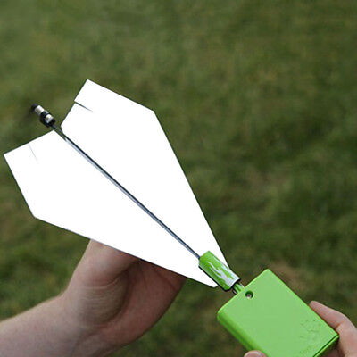 Funny Power up Electric Paper Plane Airplane Conversion Kit Educational Toy