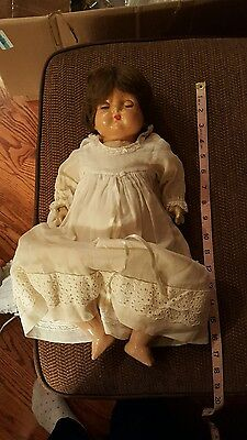 """Effanbee Composition Doll 17"""" cloth body, eyes open and close"""