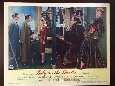 """Ginger Rogers Original 1943 Lobby Card """"Lady In The Dark 11x14"""