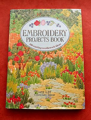 EMBROIDERY  PROJECTS  BOOK  ~ 100 Needlework Ideas ~ 1990 HC/DJ in VGC