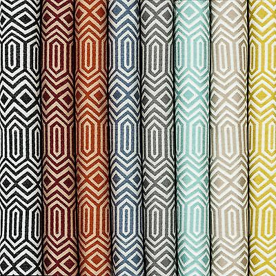 McAlister Textiles Colorado Geometric Upholstery Craft Fabric by Metre 8 Colours