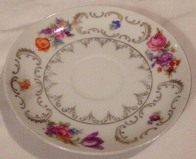 """Vintage Rare Collectible Winterling Bavaria China Germany Roses Saucer 4.5"""""""