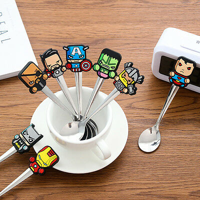 Cartoon Super hero Stainless Steel Coffee Tea Spoon Kids Children Tableware