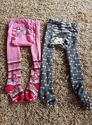 Baby girls tights with non slip feet 12-18 months