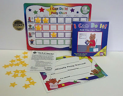 D/C Potty Training chart system with book, reward, incentive, toilet