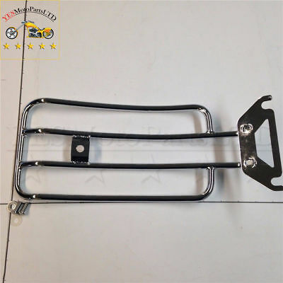 Chrome Steel Rear Luggage Rack For Harley Road King Classic Road King Custom