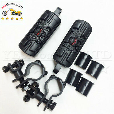 """Zombie 1"""" 1-1/4"""" Foot Pegs Clamps For Honda GoldWing GL1800 1500 1100 1200 Black"""