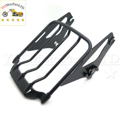 Detachable Luggage Rack For Harley '09-'17 Touring Road King/Road Glide Gloss Bl