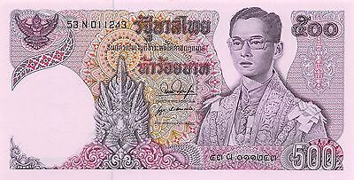 Thailand  500 Baht  ND 1975  P 86a  Series 53 N Sign # 53 Uncirculated Banknote