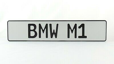 BMW M Power German Germany European Euro License Plate Number Plate Embossed Alu