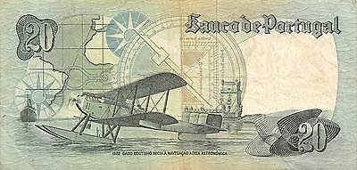Portugal  20 Escudos 4.10.1978  Series AHC  Circulated Banknote EF11