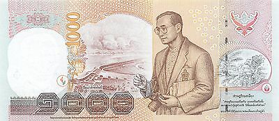 Thailand  1000  Baht  ND 2005  P 115  Series  0 C Uncirculated Banknote