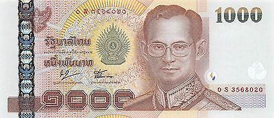 Thailand  **1000**  Baht  ND 2005  P 115  Series  0 S Uncirculated Banknote