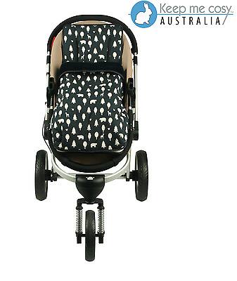 Keep Me Cosy 2 in 1 infant Footmuff + Universal Pram Liner - Woodland Friends