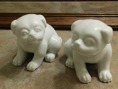 Fitz and Floyd Matching Dogs Pugs Figurines EUC