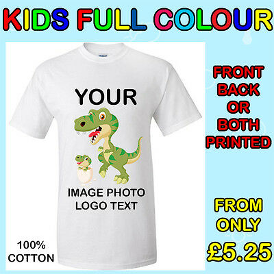 Your Image Text  Photo  Logo - Kids Custom T-Shirt Printing Personalized