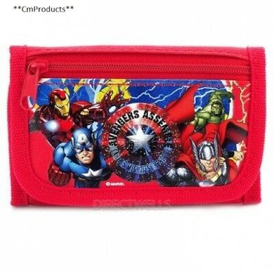 Marvel Avengers Red or Black Trifold Wallet Randomly 1 WALLET