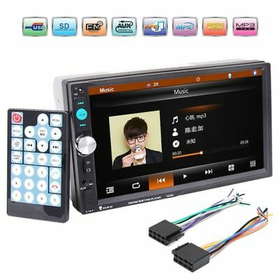 "7"" 2 DIN Bluetooth Touch Screen Car MP5 Player Radio FM USB AUX+Remote control"