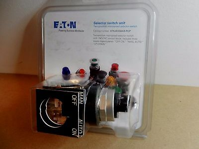Eaton HT8JAH3AAB 30.5mm 2 Position Maintained 1NO 1NC Lever Selector Switch NIP
