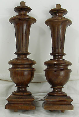 French Antique Turned walnut Pillars Column Balusters furniture architectural