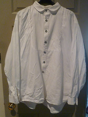 Four Frontier Classics and Scully Men's White Cotton Shirts, Size XXL