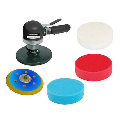 Silverline 150Mm Dual Action Air Sander With 4 Pc Polishing Kit 3 Year Warranty