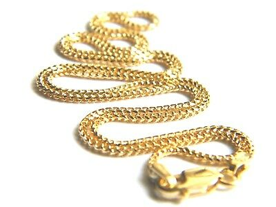 """9ct Yellow Gold Franco Chain Necklace 16""""/40cm x 1.4mm thick Top Quality 9K/.375"""