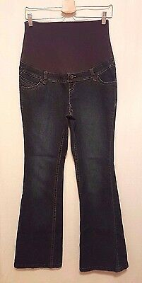 THYME Maternity Jeans Size S Fold Over Stretch Waistband