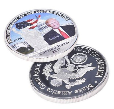 45th American President Donald Trump Silver Coin US White House Coin Collection