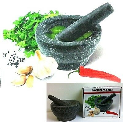 Spice Grinder Crusher 17cm Pestle And Mortar Granite Large Size by Fackelmann
